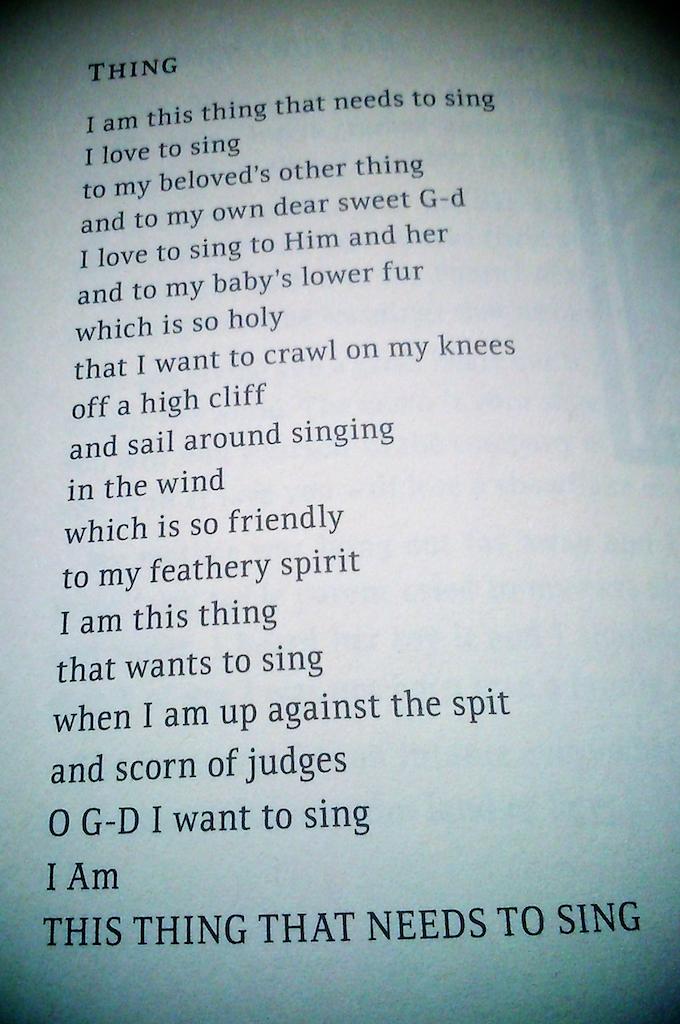 Soy esa cosa que canta